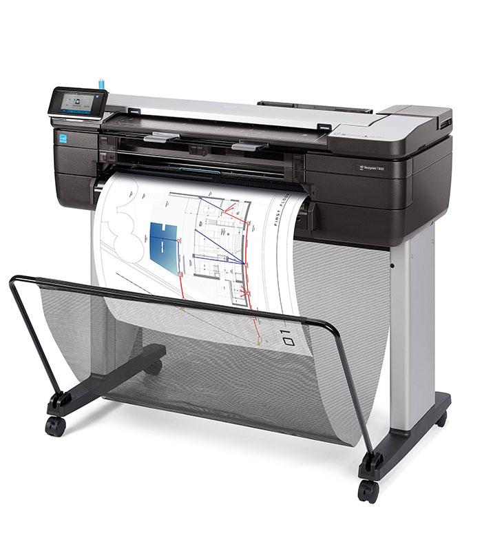 "HP DesignJet T830 Large Format Multifunction Wireless Plotter Printer - 24"", with Mobile Printing"